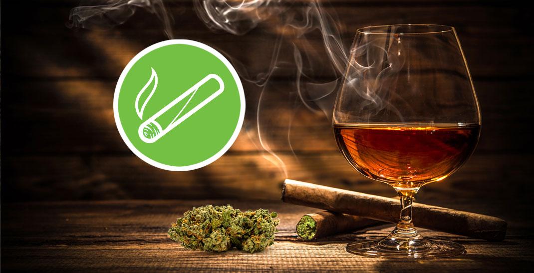 Een blunt is een met wiet gevulde sigaar.