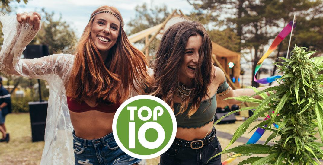 Top 10 cannabis soorten om op festivals te roken