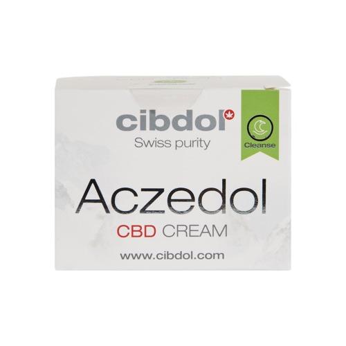 De verpakking van de Aczedol CBD créme