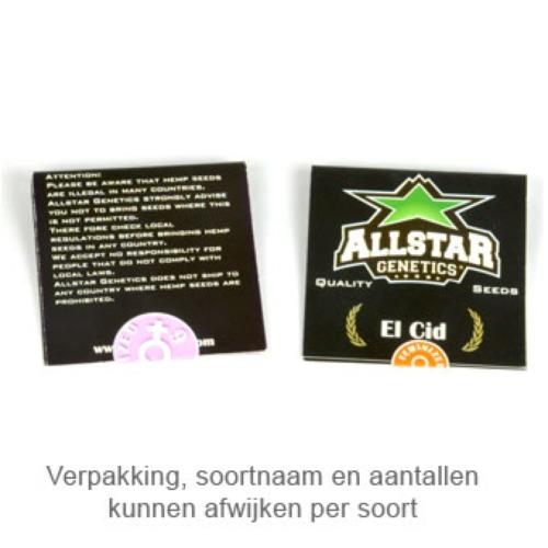 Zilvermist - Allstar Genetics verpakking
