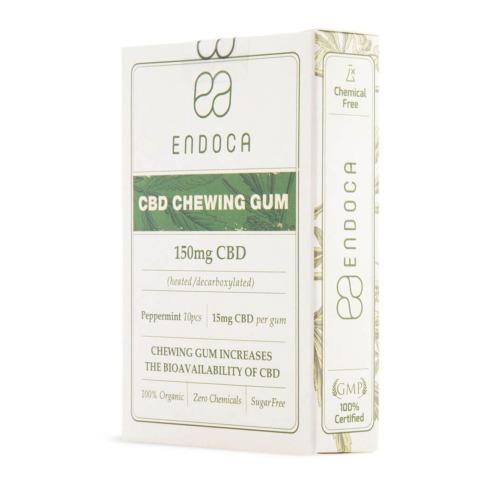 Biologische CBD kauwgom van Endoca met pepermunt smaak