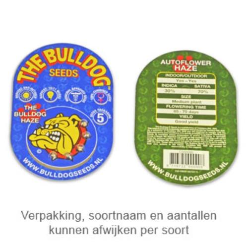 Bullshark feminised - Bulldog Seeds verpakking