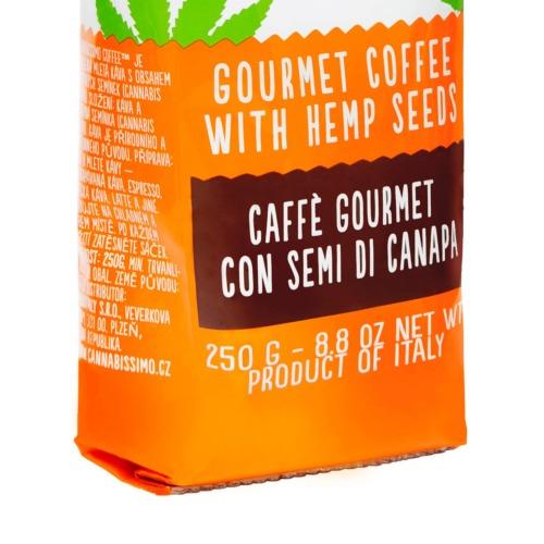 Gastronome koffie uit Italië met hennep zaden
