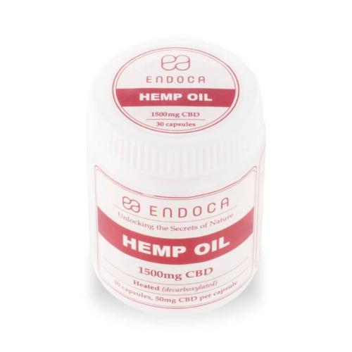 Endoca Hennepzaad olie capsules met per capsule 50 mg CBD