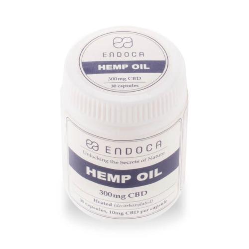Endoca Hennepzaad olie capsules met per capsule 10 mg CBD