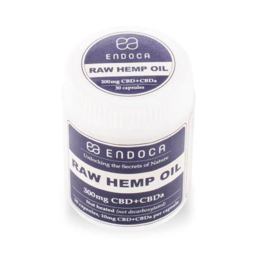 Endoca Raw Hennepzaad olie capsules met per capsule 10 mg CBD
