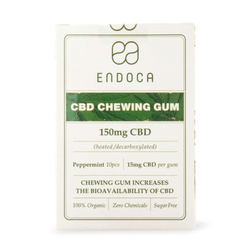 Endoca's CBD kauwgom met 15mg CBD per kauwgompje
