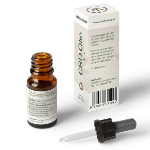 Druppelaar CBD olie Raw met 10% zuivere CBD in 10 ml flesje