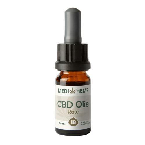 CBD olie Raw 18% (MediHemp) 10 ml