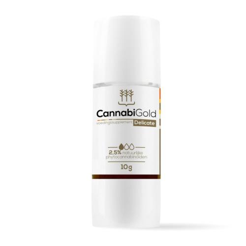 Cannabigold CBD olie 2,5% - Handig plastic doseerflesje met 10 gram hennepzaadolie met CBD