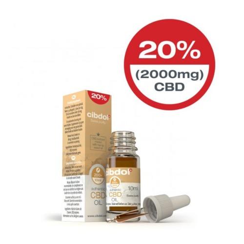 Cibdol CBD Hennepzaadolie met 20% (2000mg) CBD in 10ml verpakking.