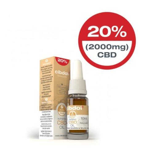 Krachtige CBD Hennepzaadolie van Cibdol met 20% CBD (2000mg) in een 10ml verpakking.
