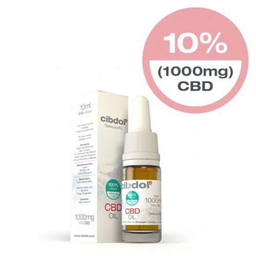 Cibdol CBD Olie Olijfolie 10% in een 10ml verpakking.
