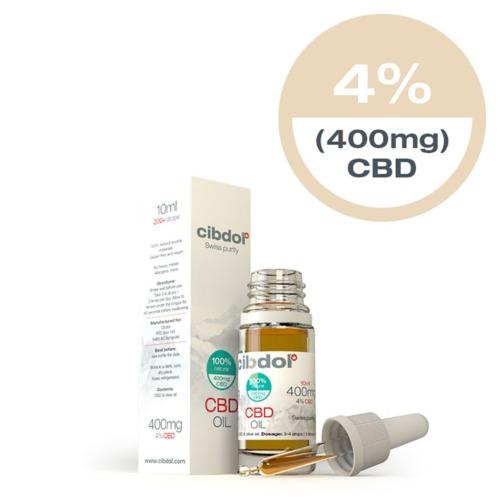 Cibdol CBD Olie Olijfolie 4% in een 10ml verpakking.