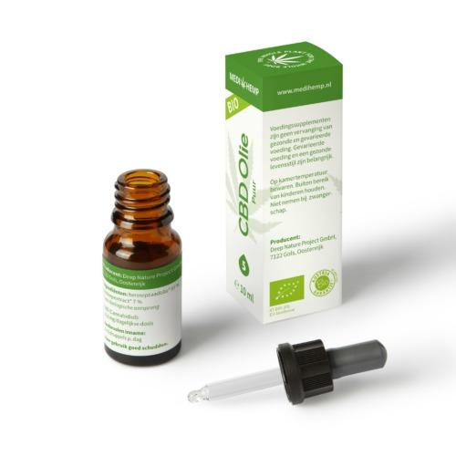 Druppelaar CBD olie Puur met 5% zuivere CBD in 10 ml flesje