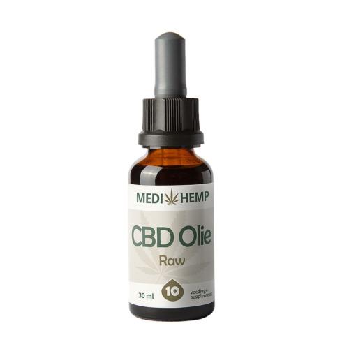 CBD olie Raw 10% (MediHemp) in 30 ml flesje