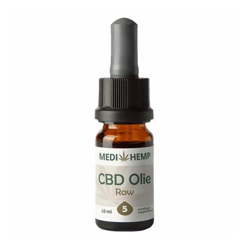 CBD olie Raw 5 procent (MediHemp) 10 ml