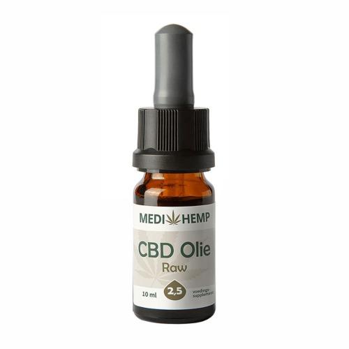 CBD olie Raw 2,5 procent (MediHemp) 10 ml