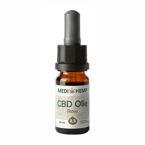 CBD olie Raw 2,5 procent (MediHemp) 30 ml