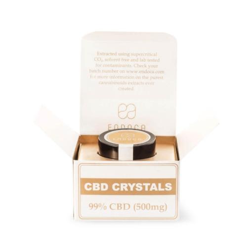 Endoca CBD-kristallen 99% pure cbd - totaal 500mg