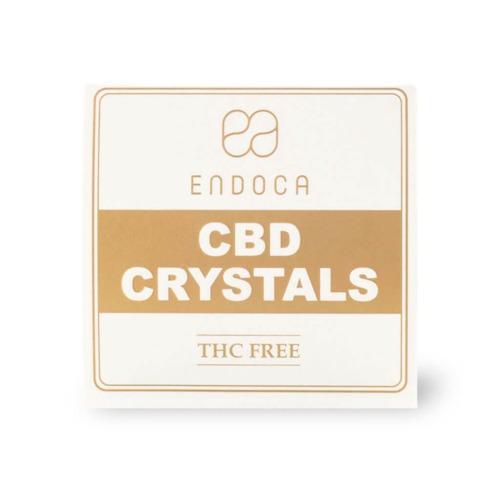 Endoca CBD kristallen bovenaanzicht verpakking