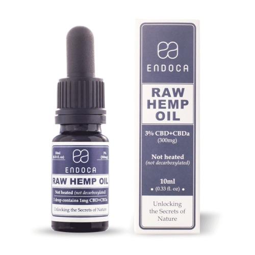 Endoca RAW CBD olie 3 procent 10ml (300mg)