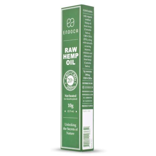 Verpakking met USP's Endoca's Raw CBD pasta 20%