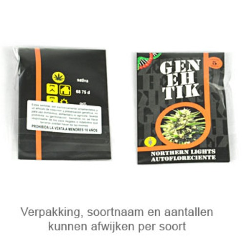 Northern Lights Auto - Genehtik Seeds autoflower verpakking