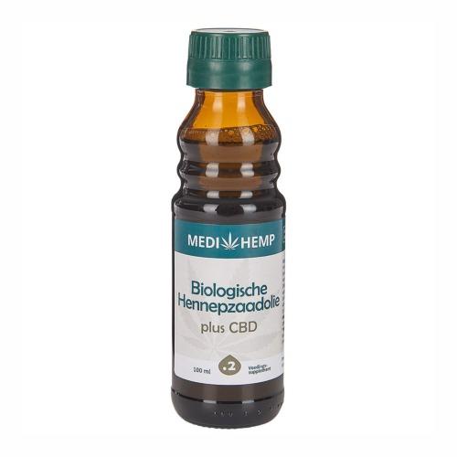 Hennepzaadolie plus CBD 100ml Biologisch van MediHemp