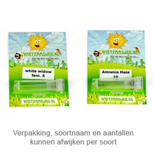 Super Lemon Haze - Huismerk Wietzaadjes.nl verpakking