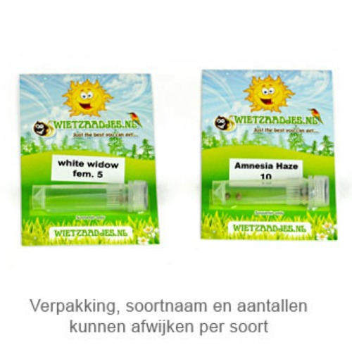 White Widow - Huismerk Wietzaadjes.nl verpakking