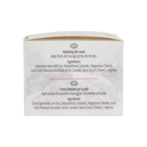 De Engelse en Italiaanse gebruiksaanwijzing en ingrediënten van de Hydradol zalf