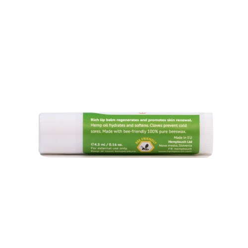 Hydraterende lippenbalsem van Hemptouch met hennepolie.