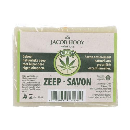Jacob Hooy CBD zeep. Zeepblok van 120 ml