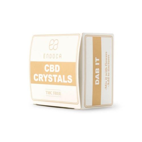 Perspectief foto van Endoca's CBD crystals
