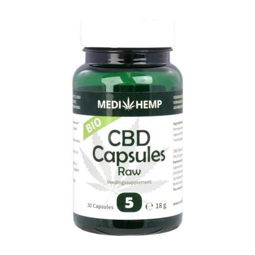 Het potje met in totaal 30 bio CBD capsules