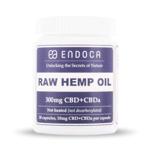Raw CBD Capsules 300mg CBD en CBDa Endoca