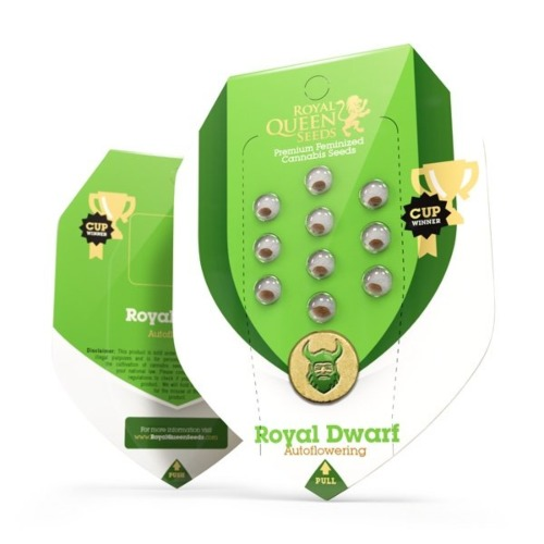 Royal Dwarf Auto - Royal Queen Seeds verpakking