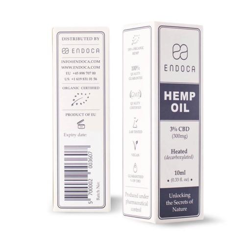 10 ml verpakking Edoca CBD Olie 3%