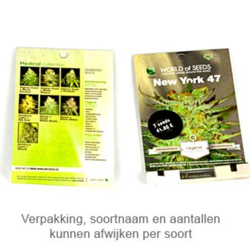Afghan Kush x White Widow - World of Seeds verpakking