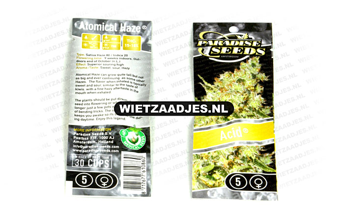 Paradise Seeds verpakking