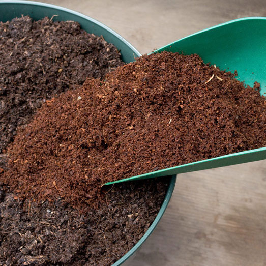 Cocosvezels maakt je aarde luchtiger.