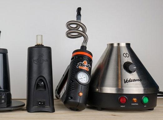 Voorbeelden van desktop vaporizers.