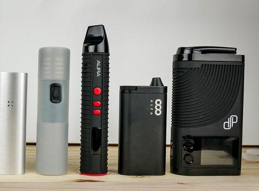 Voorbeelden van portable vaporizers.
